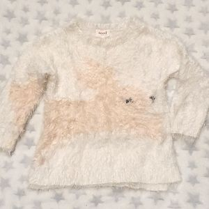 Size 3 SEED HERITAGE fluffy white jumper